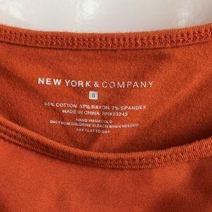 New York & Company Tops - Burnt Orange Ruffle Front Tank Top